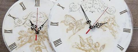Декупаж часов: интересные ид…