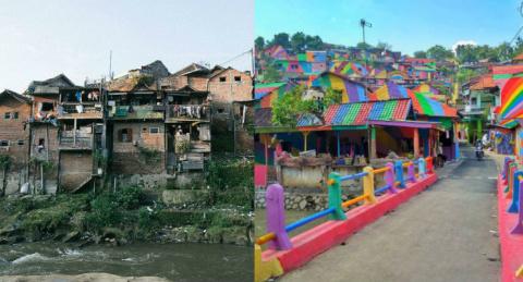 Дома в индонезийской деревне…