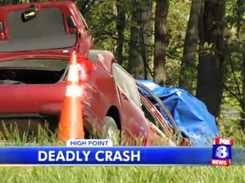 Она погибла из-за того, что писала сообщение за рулем