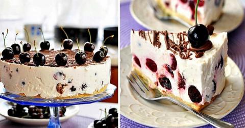 Вместо праздничного торта — Сырник с черешней!