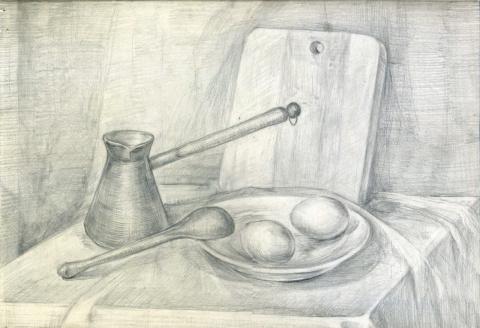 Живопись, рисунки, монотипии