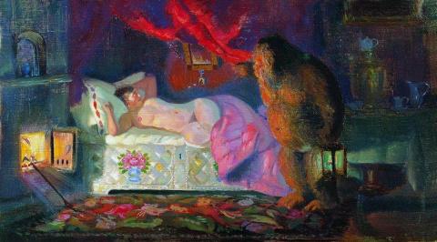 Пышнотелые красавицы Бориса Кустодиева