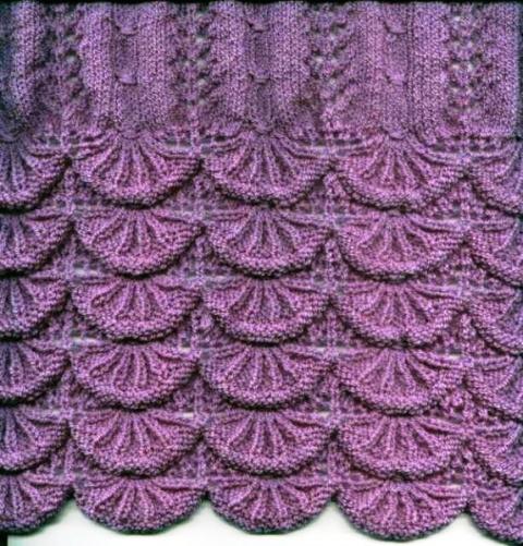 Алсацийские гребешки (рисунок - вязание спицами)