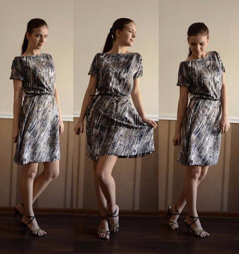 Шьём платье - тунику из шёлк…