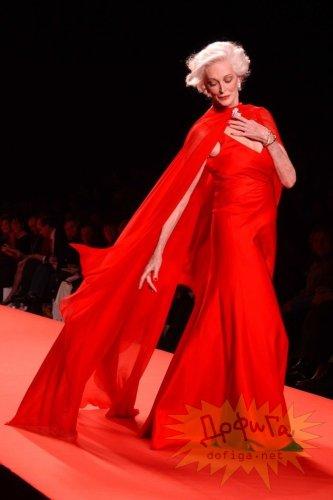 Кармен Орефайс - самая пожилая модель