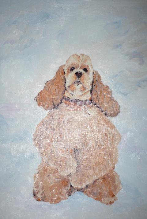 лошади и собаки в моих картинах