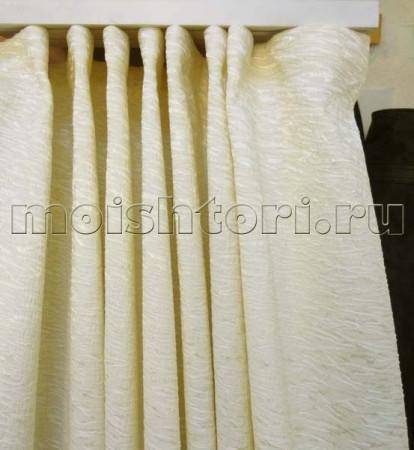 Как повесить шторы равномерными складками