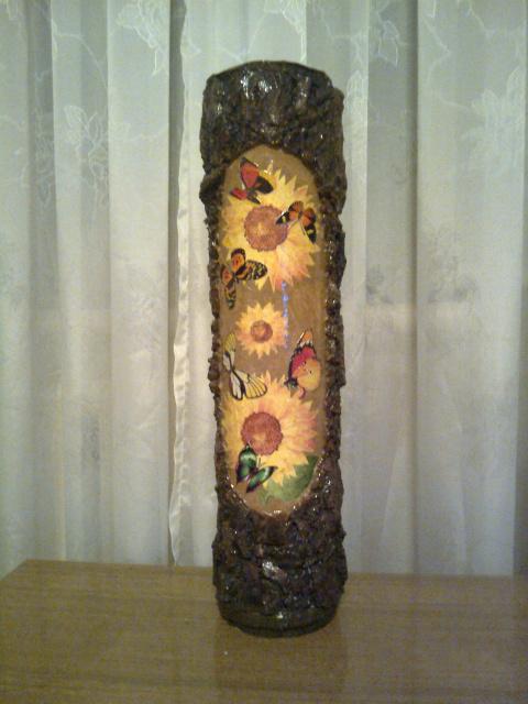 Напольные вазы из банок