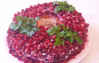 """Новогодний салат """"Гранатовый…"""