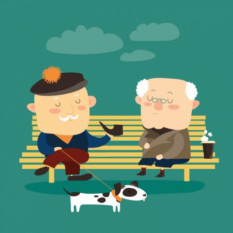Сидят два дряхлых старичка н…