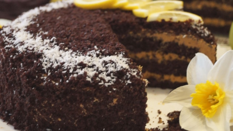 Шоколадный торт на Кипятке с…