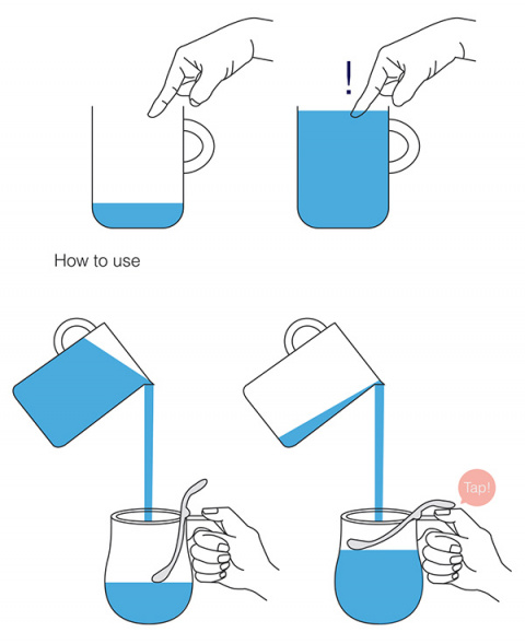 Чашка с поплавком для слепых людей