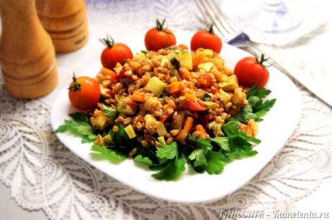 Полба с овощами