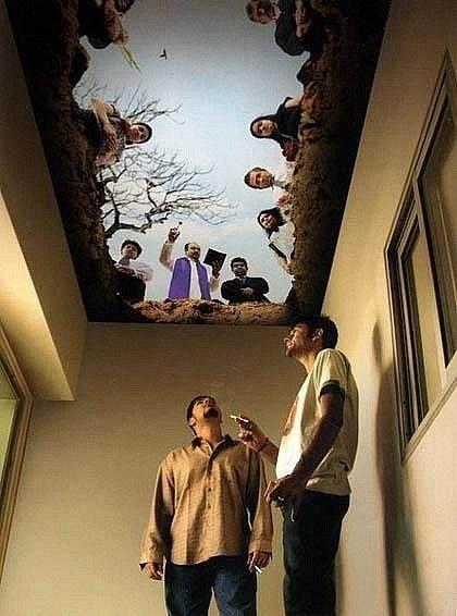 «Вы все еще курите?». Дизайн потолка в курилке.