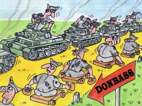 Украинские войска не смогли вырваться из окружения в аэропорту Луганска ...