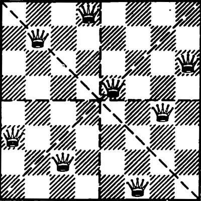 Старая шахматная загадка о 8…
