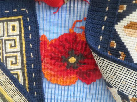 Строительная сетка вместо канвы, или Как уменьшить затраты на материалы в вышивке