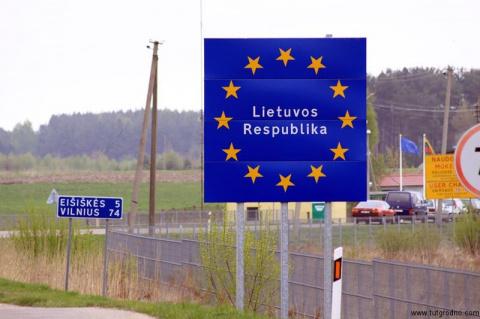 Литва сооружает забор на границе с Калининградской областью