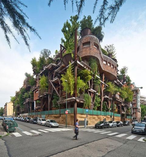 Вертикальный лес Urban Tree House