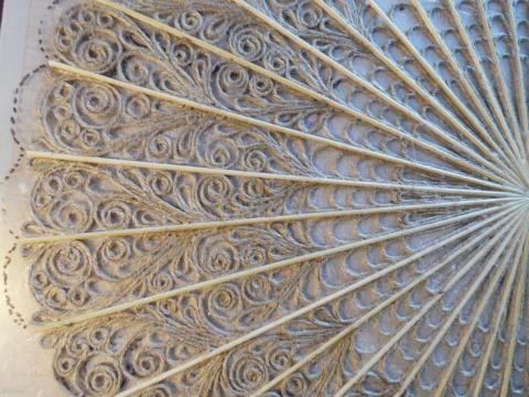 Веер- кружево из веревочки