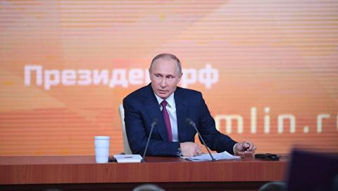 «Вы нормальные люди?» — Путин журналистке изСША