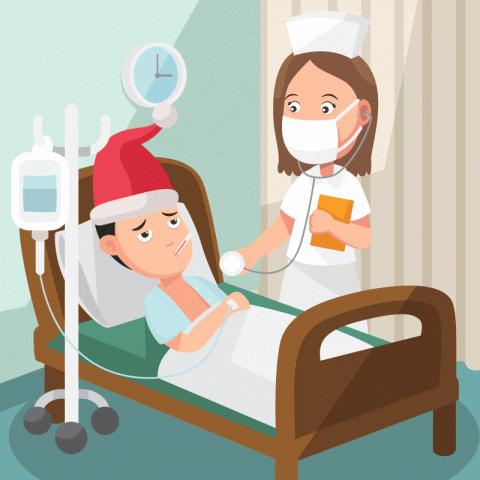 Привозят пациента вбольницу под Новый год…