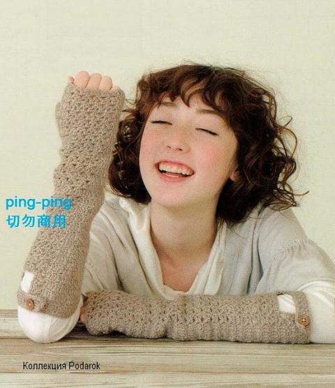 Варежки, перчатки,митенки крючком