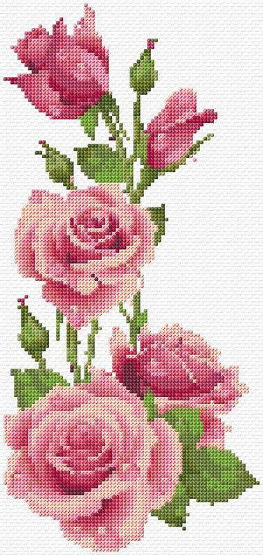 СТЕЖОК, ЕЩЁ СТЕЖОК. Розы крестиком