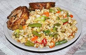 Пряный рис с овощами для гарнира – пошаговый фоторецепт