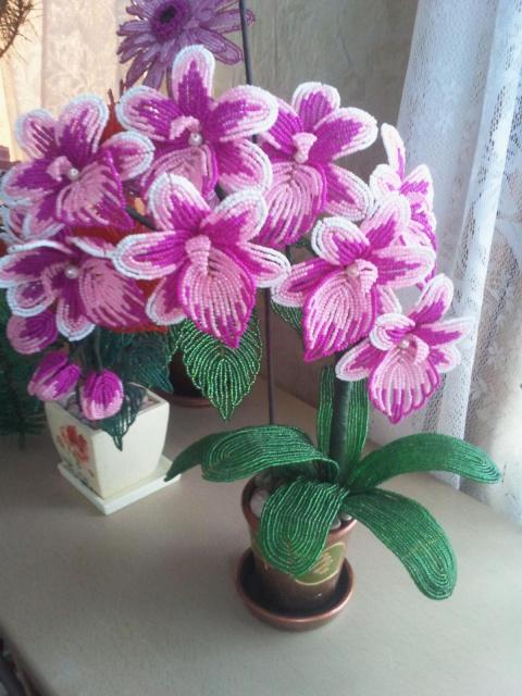 Орхидеи из бисера.Красота! И…