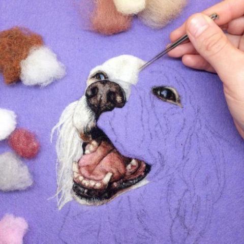 Невероятная войлочная вышивка от художницы Дани Айвс