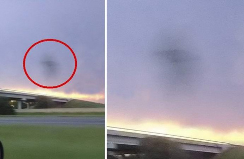 В Техасе сфотографировали плоский ромбовидный НЛО