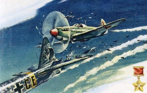 Раненный в голову советский лётчик показал немцам «кузькину мать» в воздухе