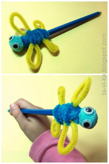 Насадка на карандаш стрекоза