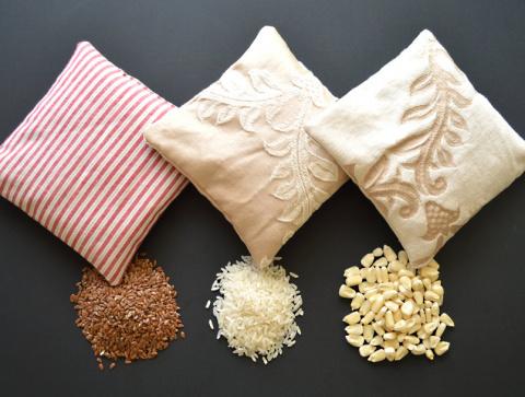 Мешочки с зерном - эффективное лечение мышечных болей