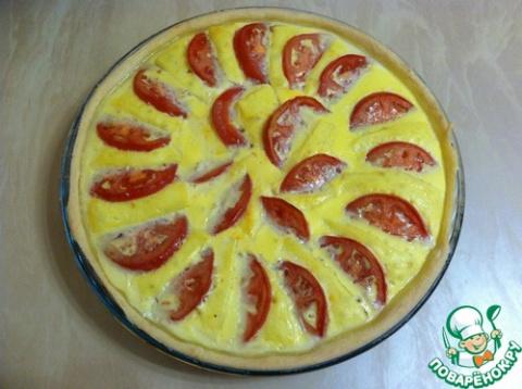 Пирог с брынзой и помидорами