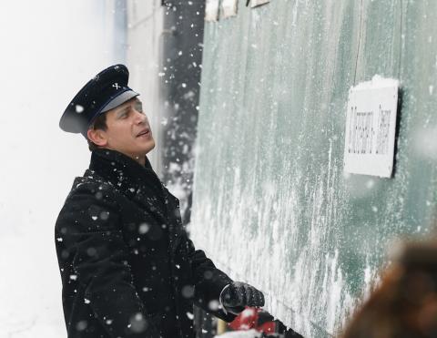 Чиповская и Снигирь в зимнем