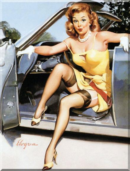 Поломка автомобиля в дороге глазами женщины