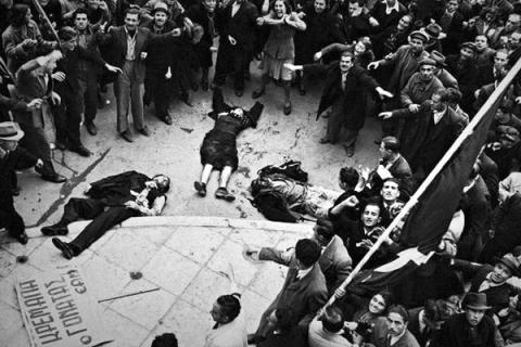 Расстрел демонстрации в Афинах