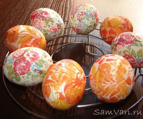 Пасхальные яйца. Украшение с…