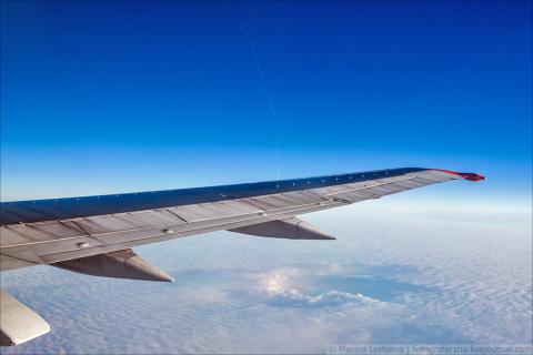 «Тополь  М»— вид сверху.  Блогер из окна самолета зафиксировал пуск ракеты