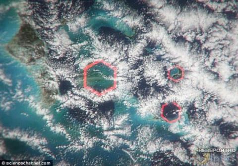 Во всех бедах Бермудского треугольника виноваты шестиугольные облака