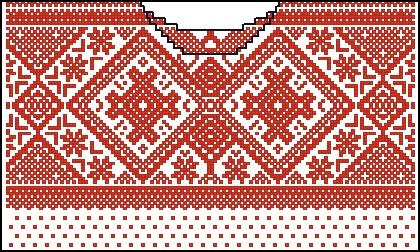 Норвежский узор вышивка
