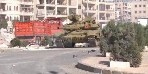 Боевая работа танка Т-90А си…