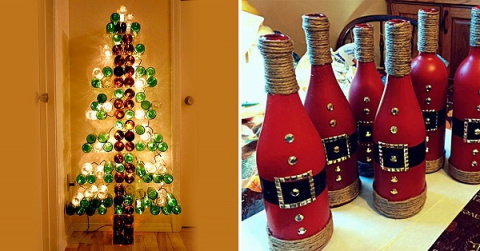 Рождественские украшения из бутылок!