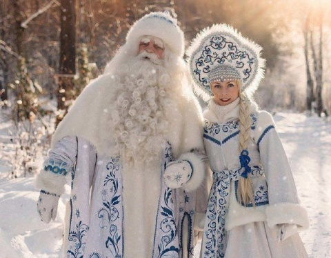 Байкальский Дед мороз и Снегурочка