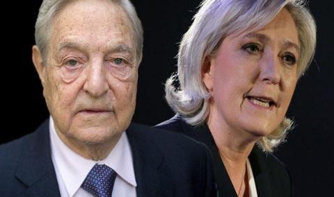 Чёрные технологии фашистского еврея Сороса против Марин Ле Пен
