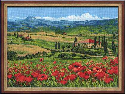 """Схема для вышивки крестом """"Тоскана"""""""