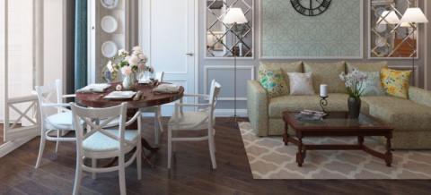Дизайн гостиной-столовой - и…