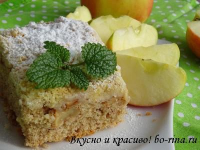 Десертный вихрь. Яблочный пирог-кекс со штрейзелем